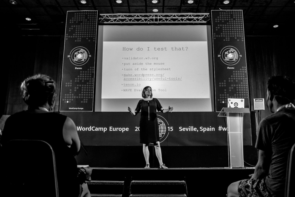 On stage at WordCamp Europe 2015